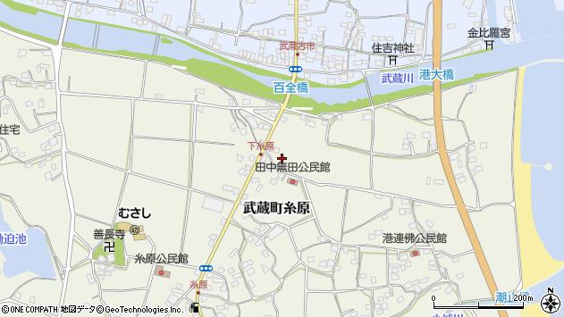 大分県国東市武蔵町糸原213周辺の地図