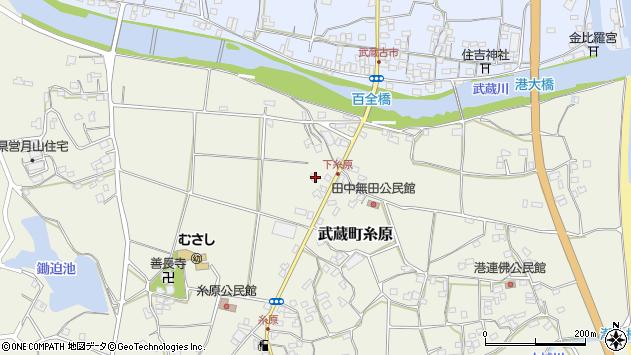 大分県国東市武蔵町糸原287周辺の地図