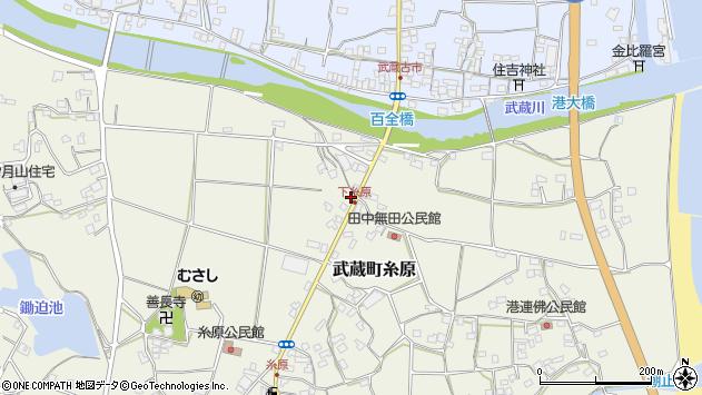 大分県国東市武蔵町糸原296周辺の地図