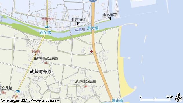 大分県国東市武蔵町糸原86周辺の地図