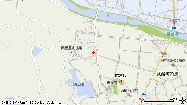 大分県国東市武蔵町糸原662周辺の地図