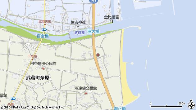 大分県国東市武蔵町糸原川口周辺の地図