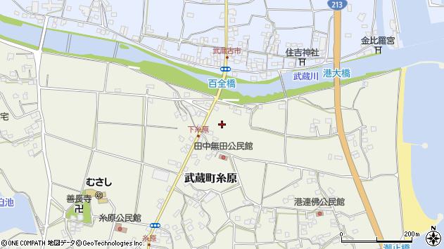 大分県国東市武蔵町糸原田中周辺の地図