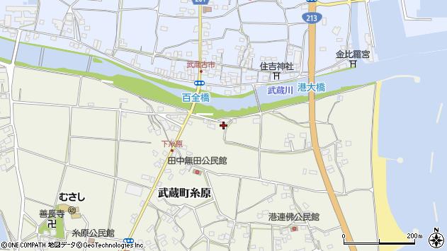 大分県国東市武蔵町糸原184周辺の地図