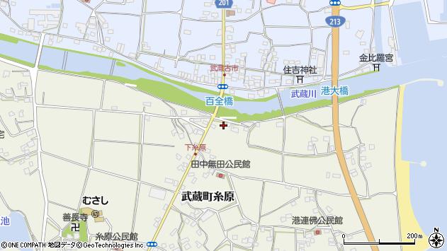 大分県国東市武蔵町糸原203周辺の地図