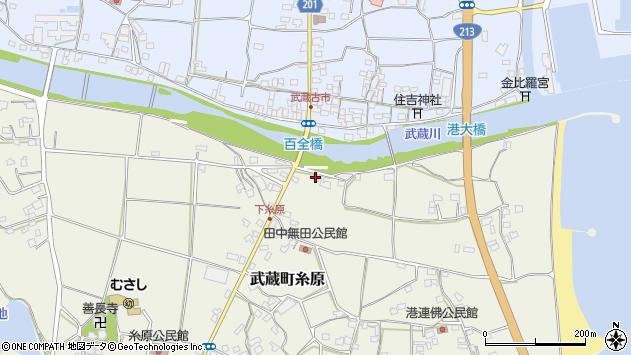 大分県国東市武蔵町糸原202周辺の地図