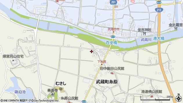 大分県国東市武蔵町糸原284周辺の地図