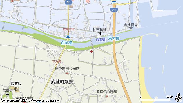 大分県国東市武蔵町糸原155周辺の地図