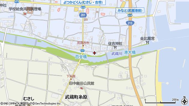 大分県国東市武蔵町古市568周辺の地図
