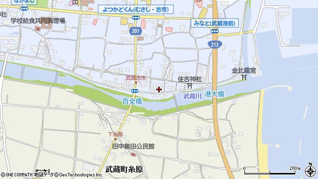大分県国東市武蔵町古市541周辺の地図