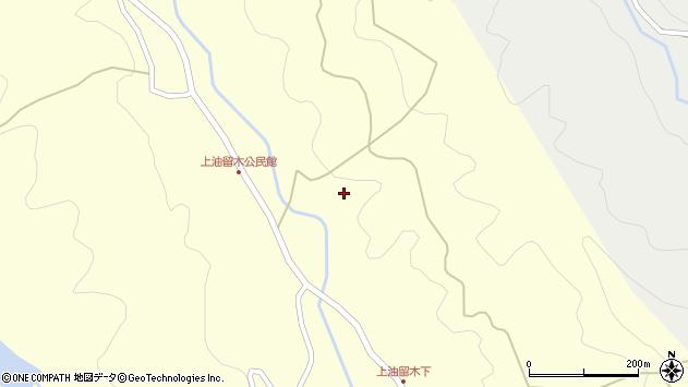 大分県国東市安岐町油留木上油留木周辺の地図