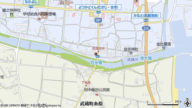 大分県国東市武蔵町古市578周辺の地図