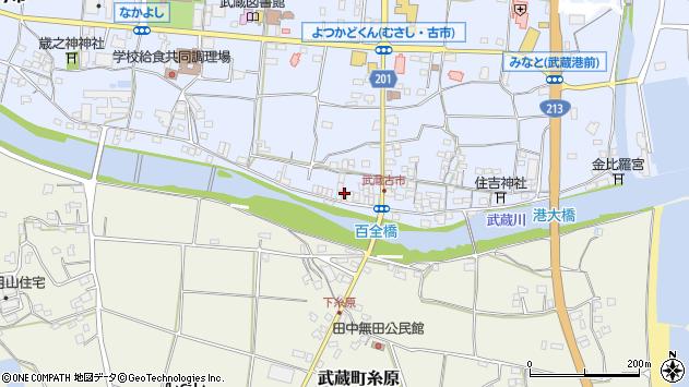 大分県国東市武蔵町古市613周辺の地図