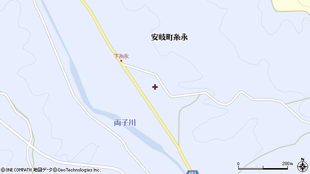 大分県国東市安岐町糸永3318周辺の地図