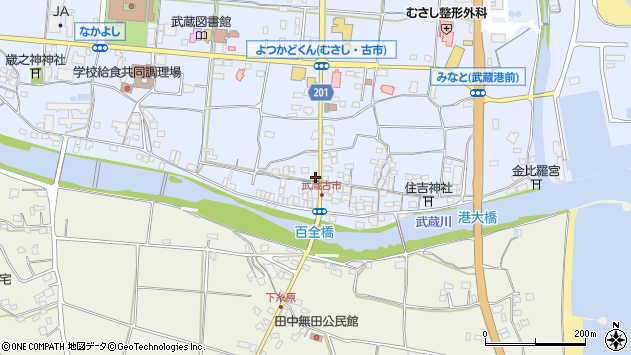 大分県国東市武蔵町古市584周辺の地図