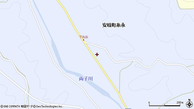 大分県国東市安岐町糸永1737周辺の地図