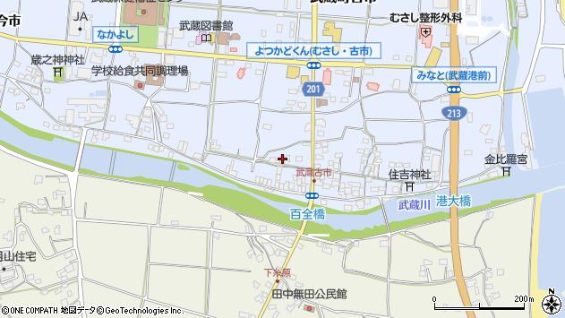 大分県国東市武蔵町古市602周辺の地図
