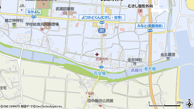 大分県国東市武蔵町古市598周辺の地図