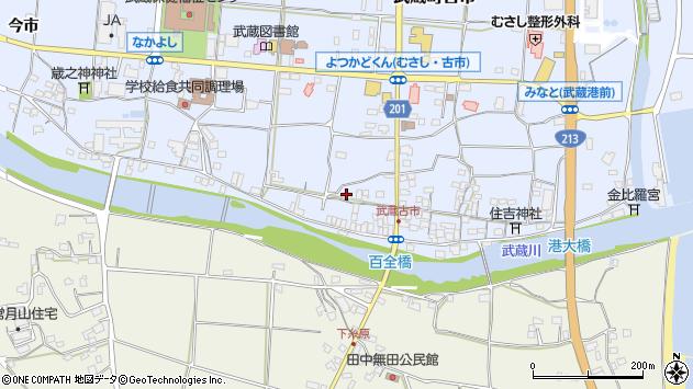 大分県国東市武蔵町古市605周辺の地図