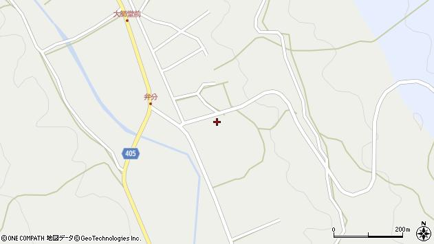 大分県国東市安岐町朝来弁分周辺の地図