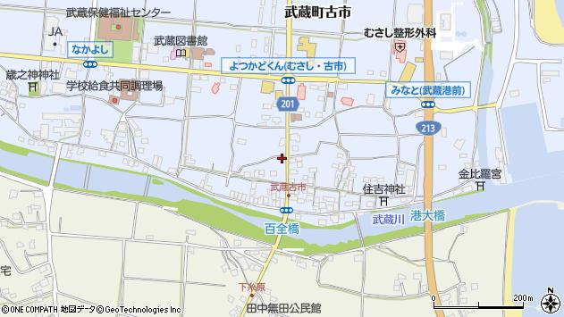 大分県国東市武蔵町古市590周辺の地図