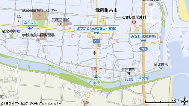 大分県国東市武蔵町古市66周辺の地図
