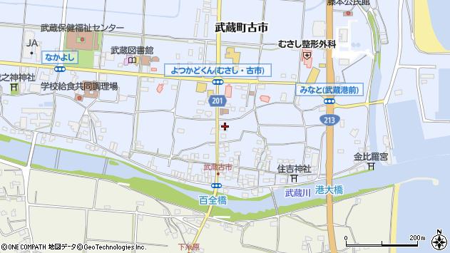 大分県国東市武蔵町古市522周辺の地図