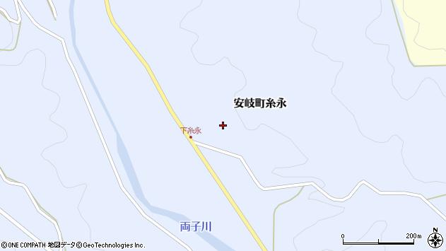 大分県国東市安岐町糸永3296周辺の地図