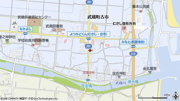 大分県国東市武蔵町古市105周辺の地図