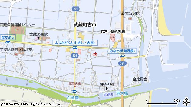 大分県国東市武蔵町古市112周辺の地図