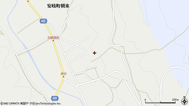大分県国東市安岐町朝来3744周辺の地図
