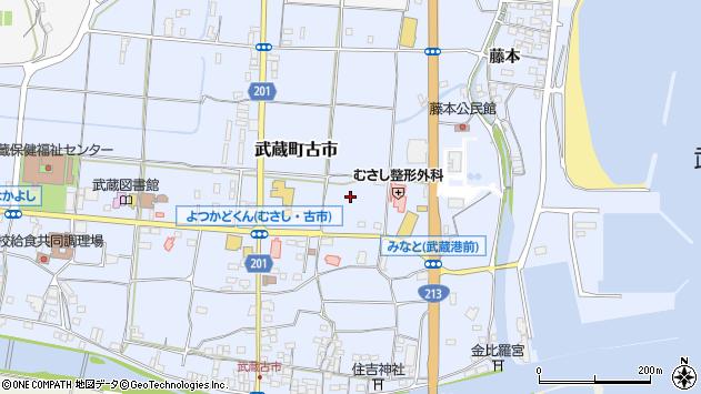 大分県国東市武蔵町古市155周辺の地図