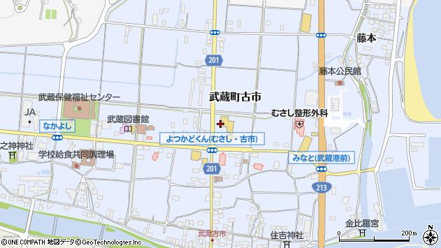 大分県国東市武蔵町古市164周辺の地図