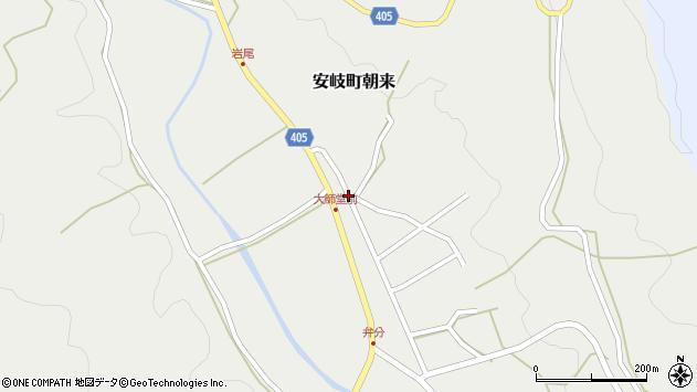 大分県国東市安岐町朝来2929周辺の地図