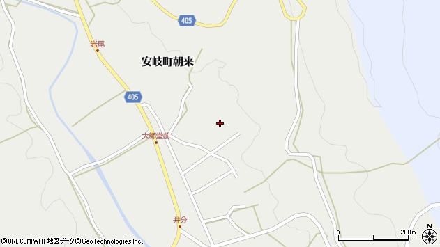 大分県国東市安岐町朝来3583周辺の地図