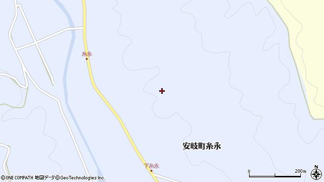 大分県国東市安岐町糸永迫周辺の地図