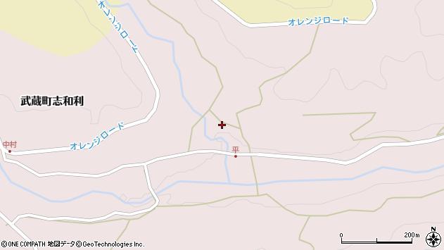 大分県国東市武蔵町志和利439周辺の地図