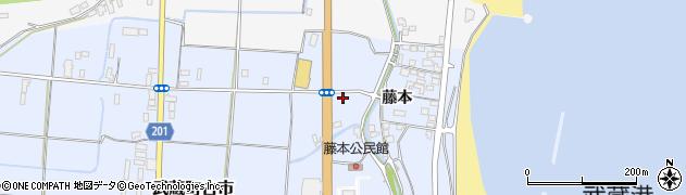 大分県国東市武蔵町古市藤本周辺の地図