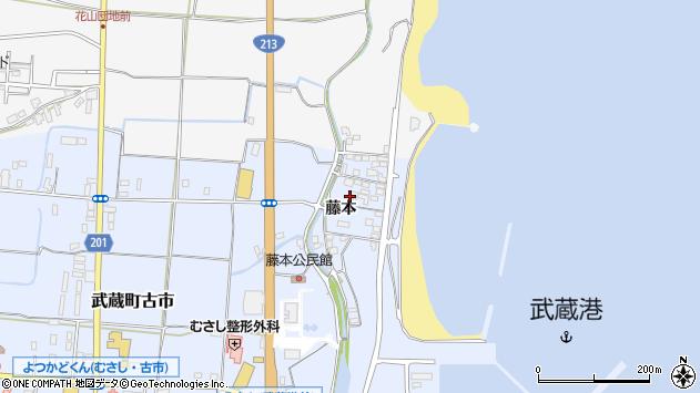 大分県国東市武蔵町古市374周辺の地図