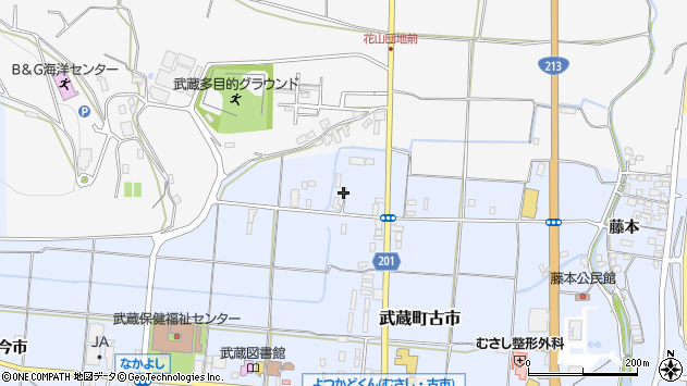 大分県国東市武蔵町古市306周辺の地図