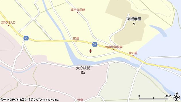 大分県国東市武蔵町成吉広瀬周辺の地図