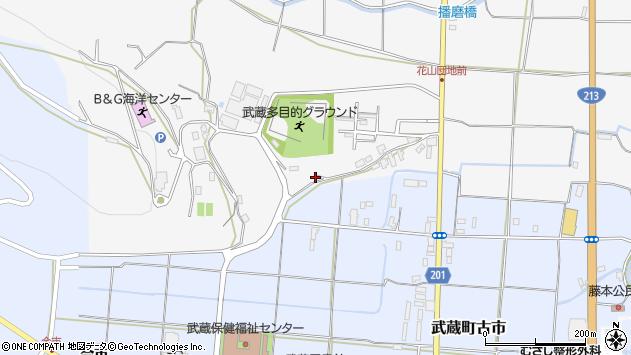 大分県国東市武蔵町内田889周辺の地図