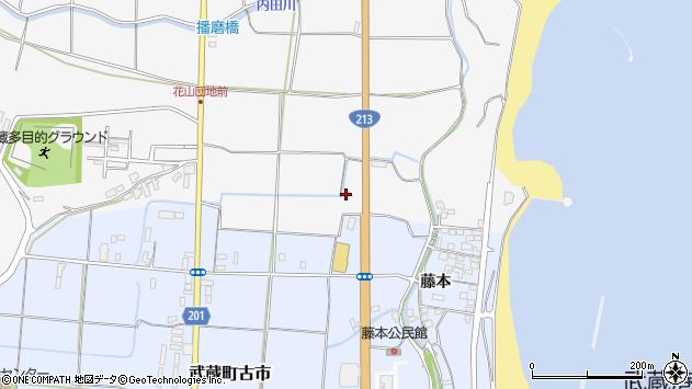 大分県国東市武蔵町内田56周辺の地図