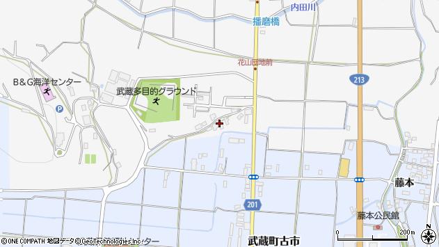 大分県国東市武蔵町内田1周辺の地図