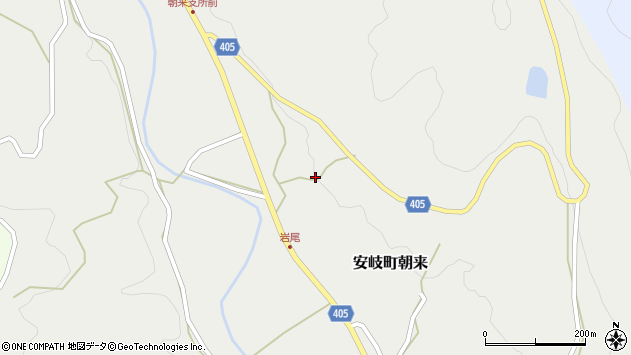 大分県国東市安岐町朝来3300周辺の地図