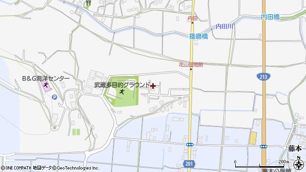大分県国東市武蔵町内田848周辺の地図