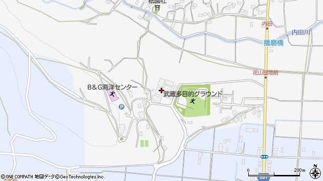 大分県国東市武蔵町内田800周辺の地図