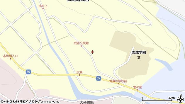 大分県国東市武蔵町成吉721周辺の地図