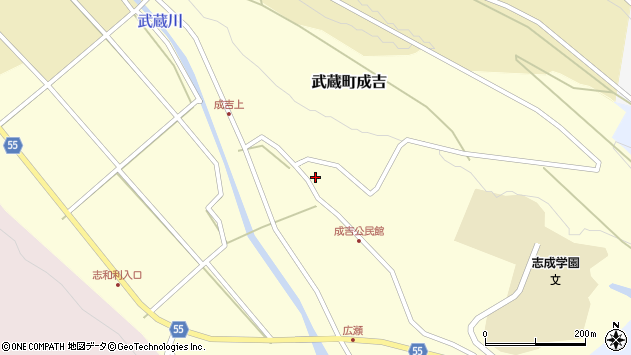大分県国東市武蔵町成吉669周辺の地図
