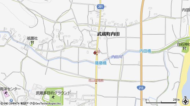 大分県国東市武蔵町内田1516周辺の地図